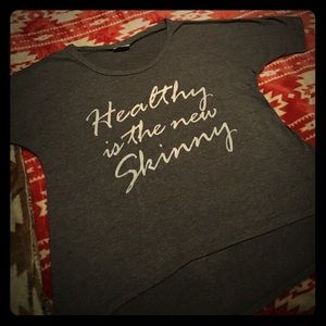 """Tops - """"Healthy is the new skinny"""" Tee 💕"""