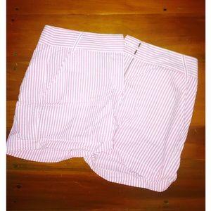 J.Crew Pink Seersucker Shorts