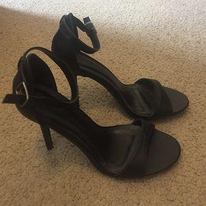 Size 10 Black One Strap Heels
