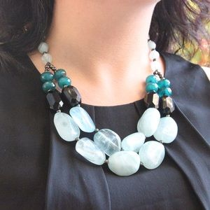 Mint and Teal Statement Necklace