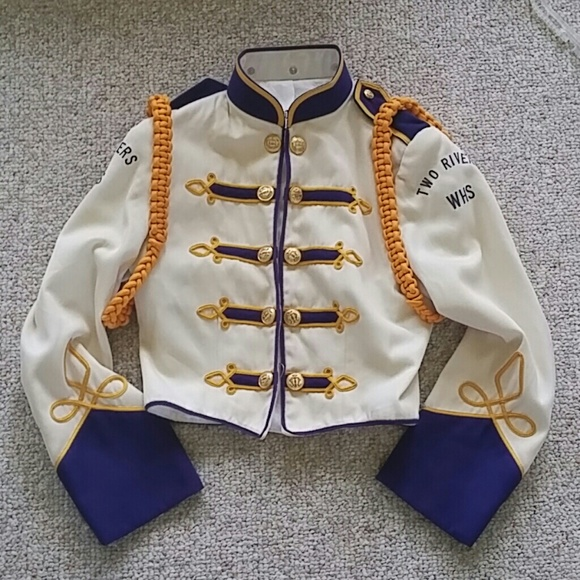 Jackets & Coats   Vintage Marching Band Uniform Purple And ...
