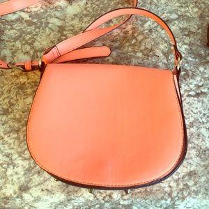 Neon Orange Coral H&M Cross Body Bag