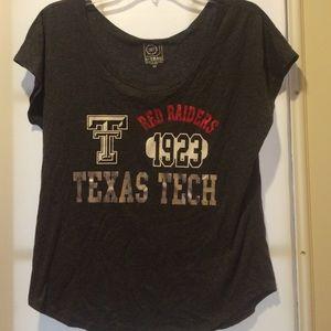 Texas Tech, Off One Shoulder Shirt Size Medium