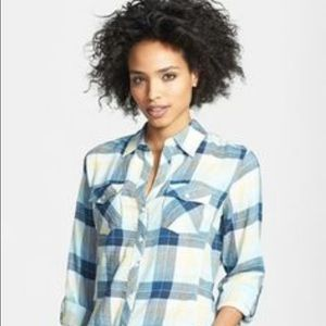 Sandra Ingrish Tops - 🛍 NWOT Blue plaid shirt
