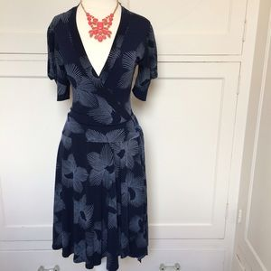 WINDSOR Dresses & Skirts - Navy Dress with Side Tie