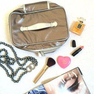 Nordstrom Handbags - NWOT Silver Make-up Travel Case