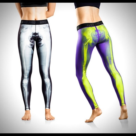 ISO Nike Xray Skeleton Tights Leggings Pants