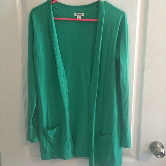 25% off Old Navy Sweaters - Long green Old Navy button down ...