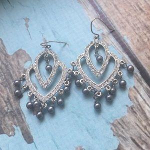 Banana Republic Crystal chandelier earrings