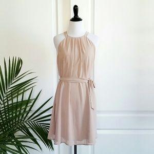 Naked Zebra Dresses & Skirts - Dusty Rose/Blush High Neck Shift Dress