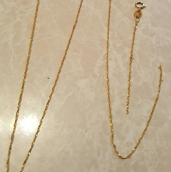 italy Jewelry 10kt Yellow Gold Broken Chain Necklace Scrap Junk