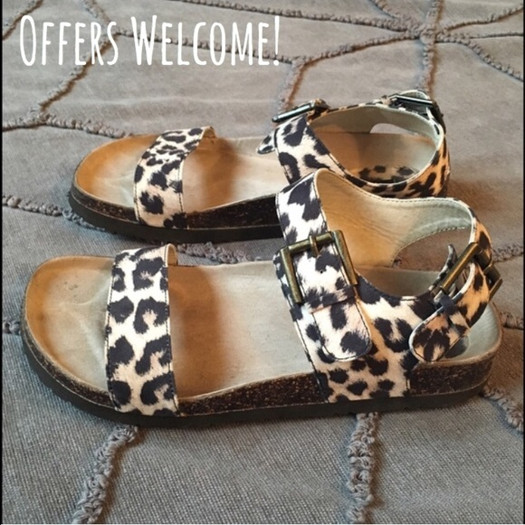781406388704 Forever 21 Shoes | Animal Print Footbed Sandals | Poshmark