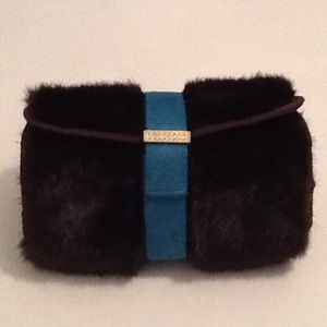 Stephanie Johnson makeup bag / fake mink fur