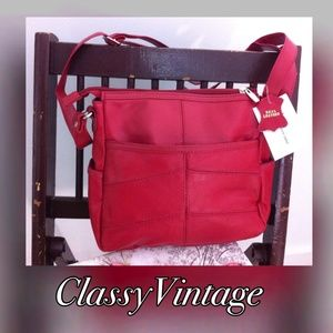 leather boutique  Handbags - 💋 lipstick red  genuine leather cross over bag