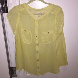 Free People Button Down Sheer Blouse