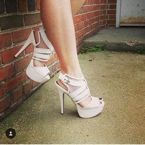 Shoes - Strappy white sandals