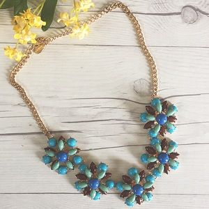 Jewelry - Blue Floral Statement Necklace