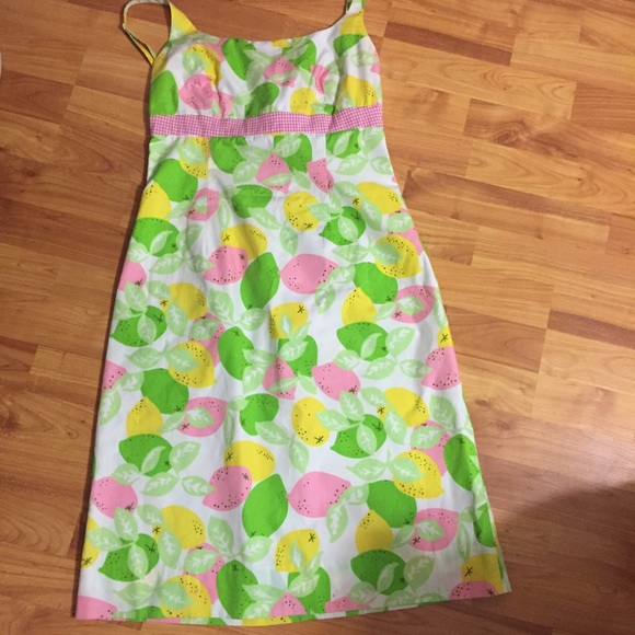 dfebf829fb2 Lilly Pulitzer Dresses   Skirts - Lilly Pulitzer print gingham and lemon  dress