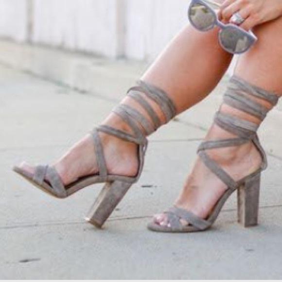 3b73bf3cc4f  Christey  Wrap-around Ankle Tie Up Heels. M 5745061f4e8d1763b500b769
