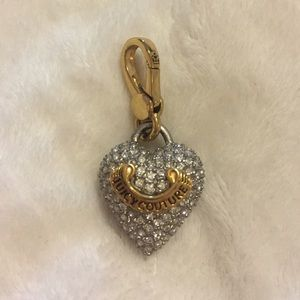 Juicy Couture Heart Charm with crystals all over