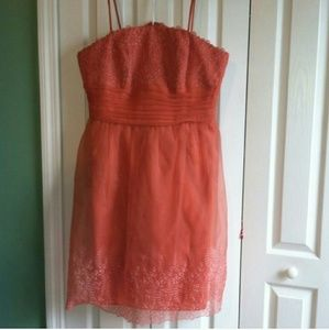 David's Bridal Dresses & Skirts - Coral bridesmaid dress