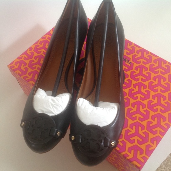 NEW TORY BURCH MINI MILLER SHOES BLACK LEATHER 7.5