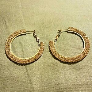 Jewelry - 💝Rhinestone Hoop Earrings