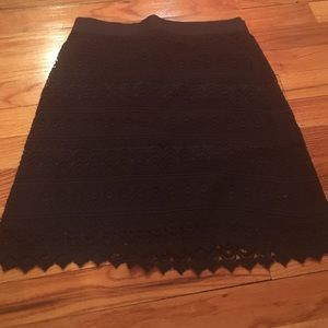 Navy eyelet skirt from loft