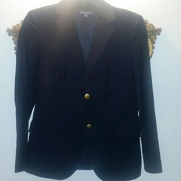 Vintage Navy blazer w/gold buttons