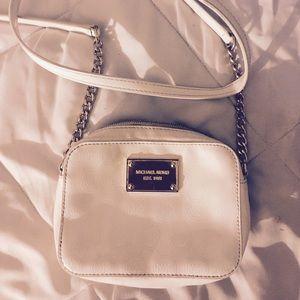 Michael Kors white crossbody purse