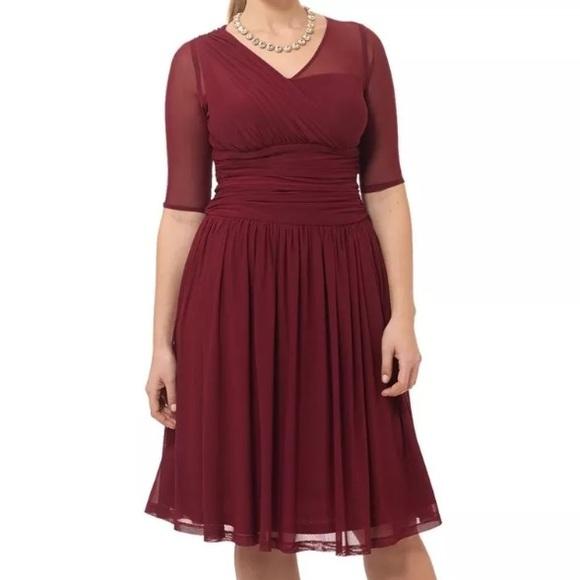 Kiyonna Dresses & Skirts - Kiyonna Wine Colored Dress