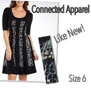 Connected Apparel Dresses & Skirts - ⤵️Connected Apparel 3/4 fitflare panel dress 6