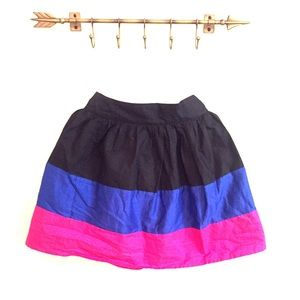 Black, blue & pink skirt