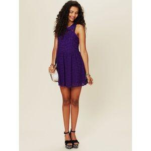 SALE Free People Purple Lace Dress