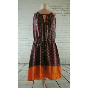 Bar III Mixed Print High-Low Dress
