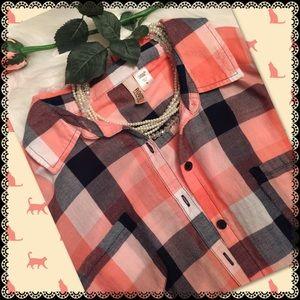 Route 66 Tops - Plaid Button up Shirt