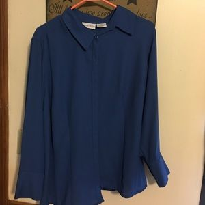 Tops - 18 w blue blouse perfect condition