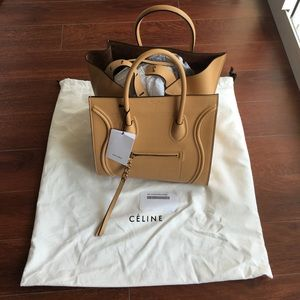 NWT: Celine Phantom Caramel Tote 100% leather