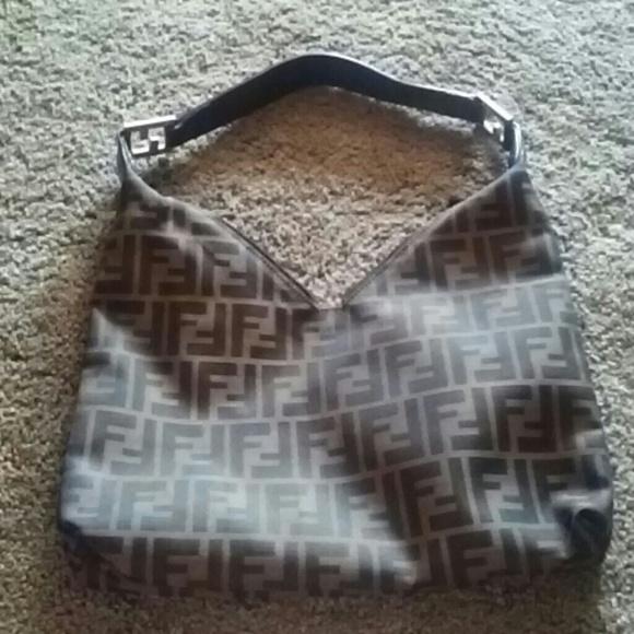 c711df06046d FENDI Bags | Reserve Large Zucca V Shape Bag | Poshmark