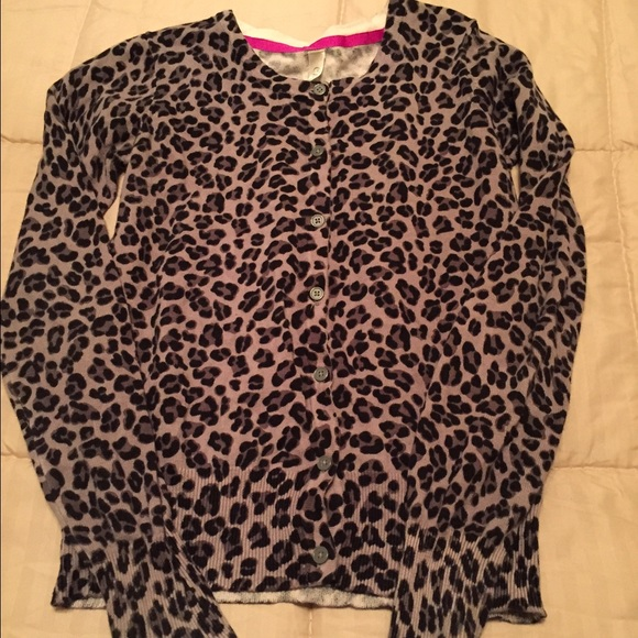70% off Sweaters - Girls leopard print cardigan from Kristin's ...