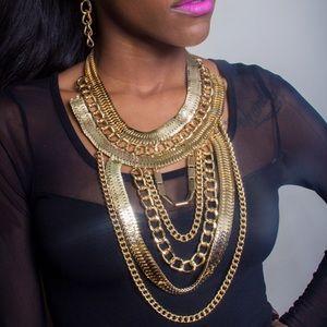 Goddess ChainLink Choker-Gold