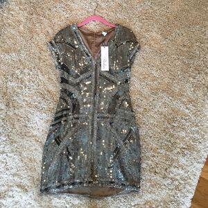 Parker Sequin Short Sleeve Dress