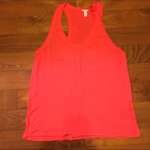 J. Crew Tops - Prima jersey pocket tank in coral
