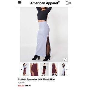 Jersey Slit Maxi Skirt