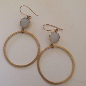 Ashley Schenkien Moonstone earrings