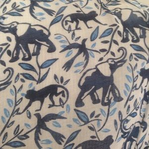 Joie elephant and monkey print blouse