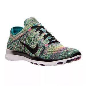 0605ab216ffd6 Nike Shoes - Womens Nike Free TR Flyknit Multicolor  718785-300