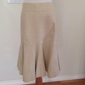 Anthropologie Elevenses Flared Skirt