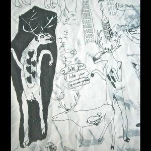 Vintage African Animal Jungle Print Large Shawl