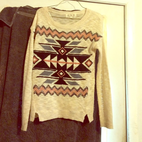 38% off Forever 21 Sweaters - Pink rose Aztec print sweater from ...